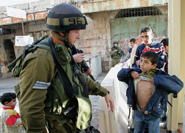 And all the time, under the treat and abuse by Israeli soldiers… on the way to school, on the way home again, every day, welcome to Palestine's Children's reality