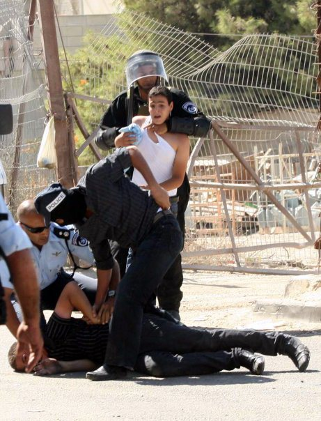Palestinian youth being arrested , brutalized, abused and beaten, and mostly even emprioned without a trial