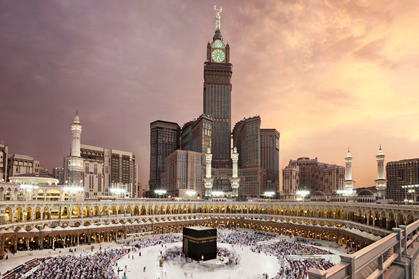 "The Mecca Royal Clock Tower is the ugliest construction yet, looming over the Haram mosque at a height of 1,900ft, with a five-star hotel, a five-floor shopping mall, two heliports and a conference centre within it's bulk. Mecca authorities flattened a mountain, and destroyed an Ottoma-era fortress to accommodate its construction, but its appearance has drawn revulsion from locals and critics as an ""architectural absurdity"" and a ""kitsch rendition of Big Ben."""